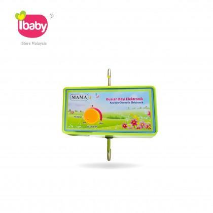I-BABY MAMA Green Electronic Baby Cradle MAMA HIjau Buaian Baby Buai Bayi Elektrik